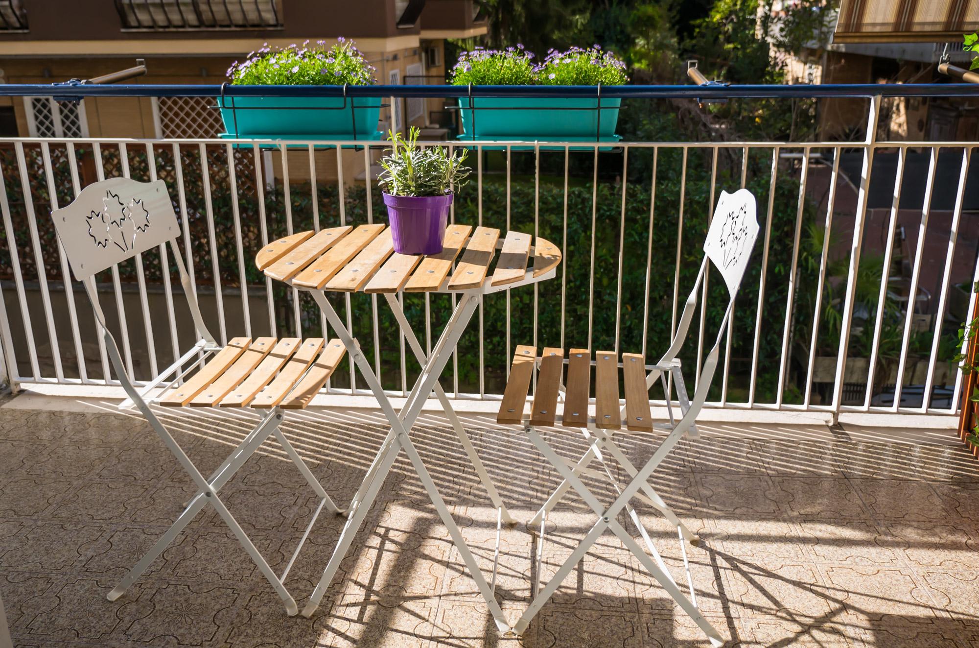 Balcone privato - Le Camere - B&B Roma Centro